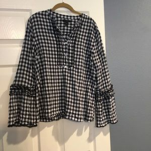 J. Crew Gingham Top. Excellent used condition!
